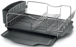 This dish rack from Polder is our recommended dish rack.
