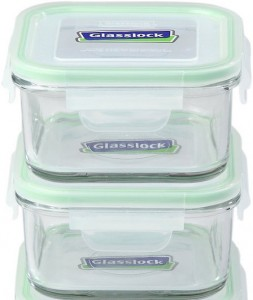 These pyrex food storage contains from Kinetic are our recommended food storage containers.
