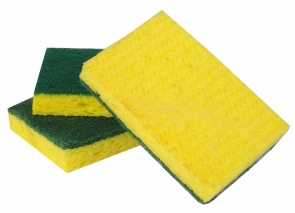 These heavy sponges from Scotch-Brite are our recommended heavy sponges.