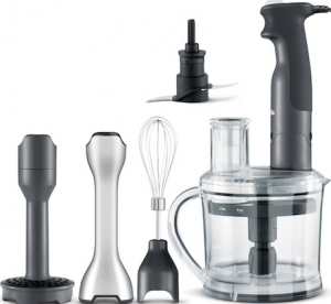 This all-in-one immersion blender with attachments from Breville is our premium immersion blender pick.