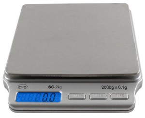This kitchen scale from American Weigh Scales is our recommended kitchen scale.