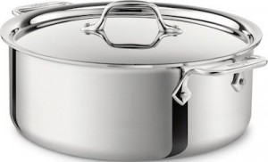 All Clad's large pot is our premium large pot pick.