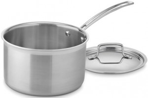 This medium saucepan from Cuisineart's Multiclad Pro line is our recommended medium saucepan.
