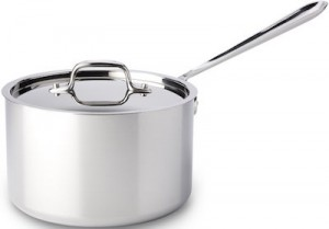 All Clad's medium saucepan is our premium medium saucepan pick.