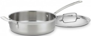 Cuisineart's Multiclad Pro sauté pan is our recommended sauté pan.