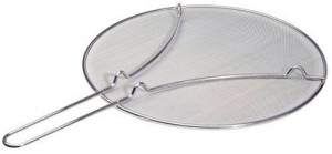 This fine mesh splatter guard from Progressive International is our recommended splatter guard.