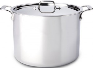 This stockpot from All Clad is our premium stockpot pick.