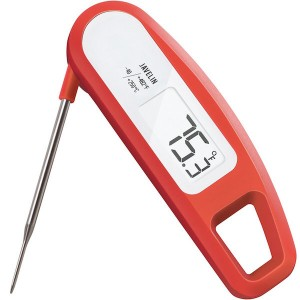 This ultra fast meat thermometer from Lavatools is our recommended meat thermometer.