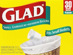 These small trash bags from Glad are our recommended small trash bags.